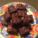 Walnoot karamel brownies